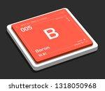 boron element symbol from... | Shutterstock . vector #1318050968
