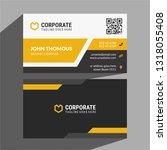 business card template | Shutterstock .eps vector #1318055408
