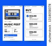 music festival ticket booking... | Shutterstock .eps vector #1318058378