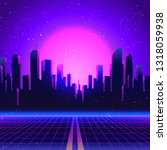 retro futurism. vector... | Shutterstock .eps vector #1318059938