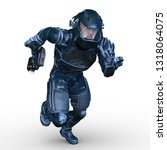 3d cg rendering of cyber man | Shutterstock . vector #1318064075