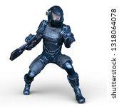 3d cg rendering of cyber man | Shutterstock . vector #1318064078