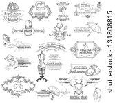 calligraphic design elements... | Shutterstock .eps vector #131808815