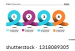 four points process chart slide ... | Shutterstock .eps vector #1318089305