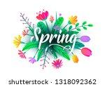 spring word vector background...   Shutterstock .eps vector #1318092362