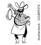 chuck wagon cook   retro clip... | Shutterstock .eps vector #131809376