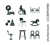 chair icon set. baby toy icon... | Shutterstock .eps vector #1318096988