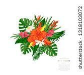 vector tropical bouquet... | Shutterstock .eps vector #1318103072