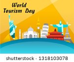 world tourism day vector... | Shutterstock .eps vector #1318103078