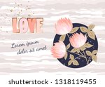 hand drawn greeting card with... | Shutterstock .eps vector #1318119455