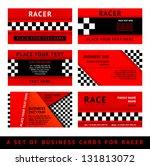 business card driver race  ... | Shutterstock .eps vector #131813072