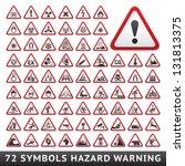 triangular warning hazard... | Shutterstock .eps vector #131813375
