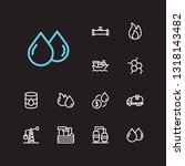 petrol icons set. oil market...