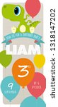 liam 3th birthday party... | Shutterstock .eps vector #1318147202