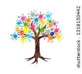 abstract tree vector. paint...   Shutterstock .eps vector #1318150442