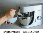 food processor to kneading of... | Shutterstock . vector #1318152905