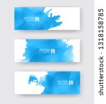 banners with abstract color ink ...   Shutterstock .eps vector #1318158785