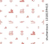 airplane icons pattern seamless ... | Shutterstock .eps vector #1318159415