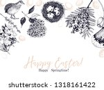easter greeting card. hand... | Shutterstock .eps vector #1318161422