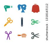 9 hairdresser icons. trendy... | Shutterstock .eps vector #1318165112