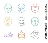 happiness icons. trendy 9... | Shutterstock .eps vector #1318165352