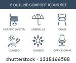 6 comfort icons. trendy comfort ... | Shutterstock .eps vector #1318166588