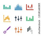 9 mixing icons. trendy mixing... | Shutterstock .eps vector #1318168385
