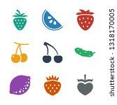 9 juicy icons. trendy juicy...   Shutterstock .eps vector #1318170005