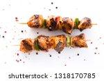 chicken shish kebab with...   Shutterstock . vector #1318170785