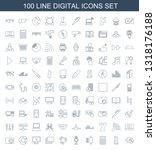 digital icons. trendy 100... | Shutterstock .eps vector #1318176188