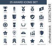25 award icons. trendy award... | Shutterstock .eps vector #1318176245