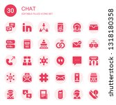 chat icon set. collection of 30 ... | Shutterstock .eps vector #1318180358