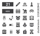 kids icon set. collection of 21 ... | Shutterstock .eps vector #1318182842