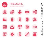 pressure icon set. collection... | Shutterstock .eps vector #1318184192