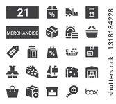 merchandise icon set.... | Shutterstock .eps vector #1318184228