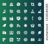 land icon set. collection of 36 ... | Shutterstock .eps vector #1318184285