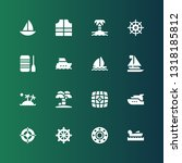 yacht icon set. collection of... | Shutterstock .eps vector #1318185812