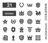 insignia icon set. collection... | Shutterstock .eps vector #1318185848