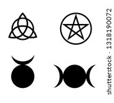wicca and pagan symbols.... | Shutterstock .eps vector #1318190072