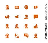 communicate icon set.... | Shutterstock .eps vector #1318190972