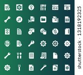 setting icon set. collection of ... | Shutterstock .eps vector #1318192325