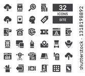 site icon set. collection of 32 ... | Shutterstock .eps vector #1318198892