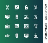 remote icon set. collection of... | Shutterstock .eps vector #1318198925