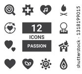 passion icon set. collection of ... | Shutterstock .eps vector #1318199015