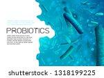 probiotics  prebiotics. normal...   Shutterstock .eps vector #1318199225