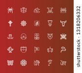 editable 25 tattoo icons for... | Shutterstock .eps vector #1318206332