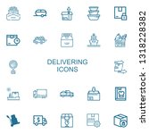 editable 22 delivering icons... | Shutterstock .eps vector #1318228382