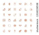 editable 36 ripe icons for web...   Shutterstock .eps vector #1318228538