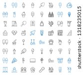 scoop icons set. collection of... | Shutterstock .eps vector #1318235015