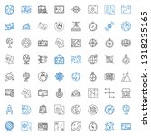 geography icons set. collection ... | Shutterstock .eps vector #1318235165